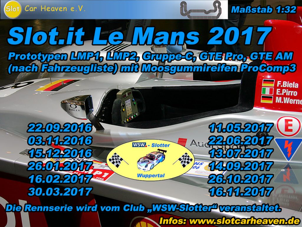 Slot.it Le Mans 2016 / 2017